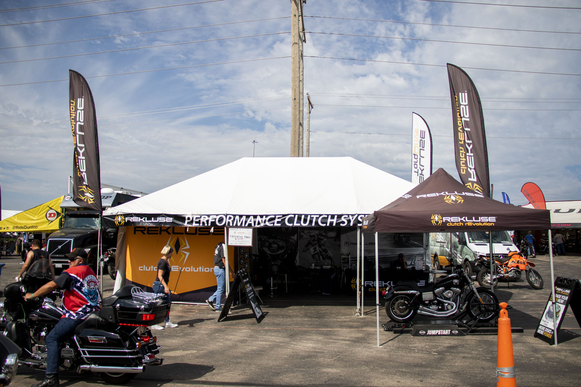 Rekluse booth at Sturgis Rally