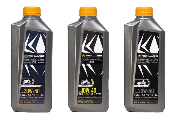 Rekluse Factory Formulated Oil for off-road and V-Twin motorcycles